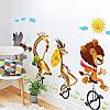 """Наклейка в детскую, на шкаф """"звери на велосипедах в цирке"""" 73см*120см (лист 60*90см), фото 2"""