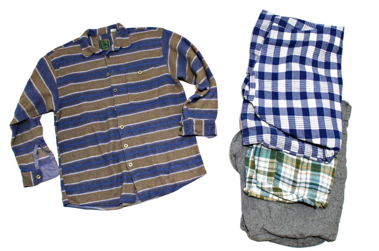Cеконд хенд рубашки мужские теплые фланель Польша Оптом от 20 кг