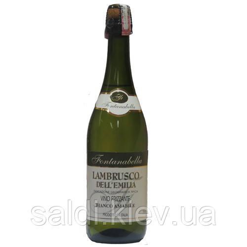 Вино полусладкое Fontanabella lambrusco dell'emilia 750 bianco amabile