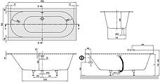 OBERON ванна 190*90см с ножками, фото 3