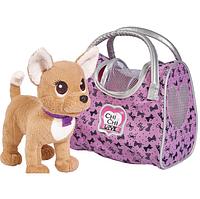 Собачка Чихуахуа Фэшн Вояж с ошейником и сумочкой, 20 см,+5