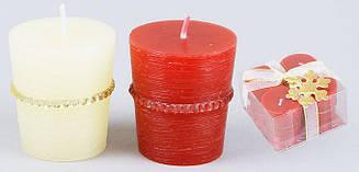 Набор свечей (4 шт) с декором 5.2см 310-119