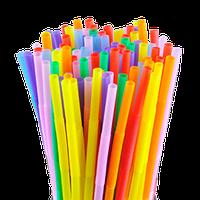 Трубочки Ассорти разноцветные с гофрой 21см 1000шт