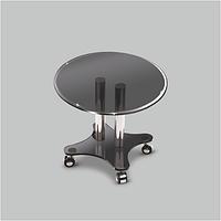Стол журнальный стеклянный Фокус K Grey(550*550*455)