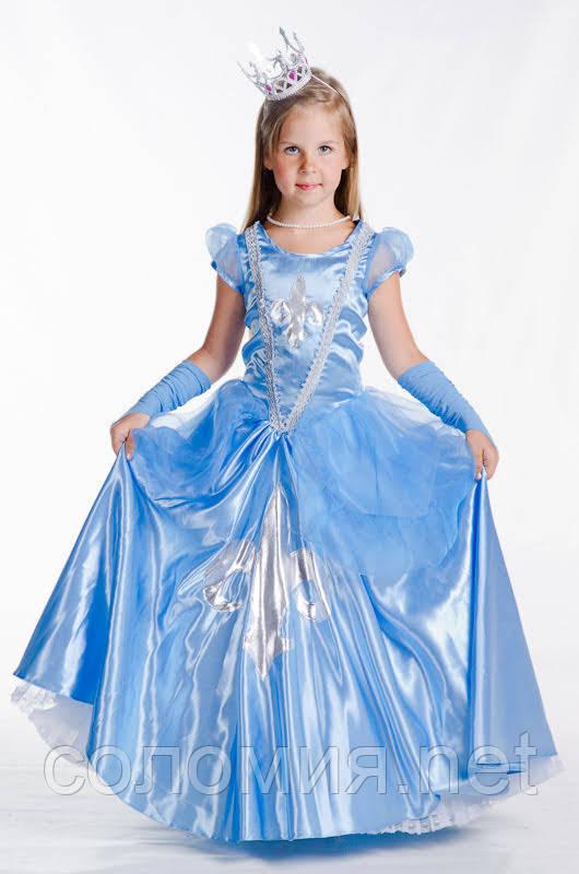Детский карнавальный костюм для девочки Золушка 110-128р
