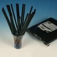 Трубочка фреш-черная прямая 25см d=8мм 500шт УКР