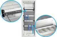 Щит 3-рядный для мультимедиа и связи, встроенный з металлическими дверями, VOLTA VU36NWB
