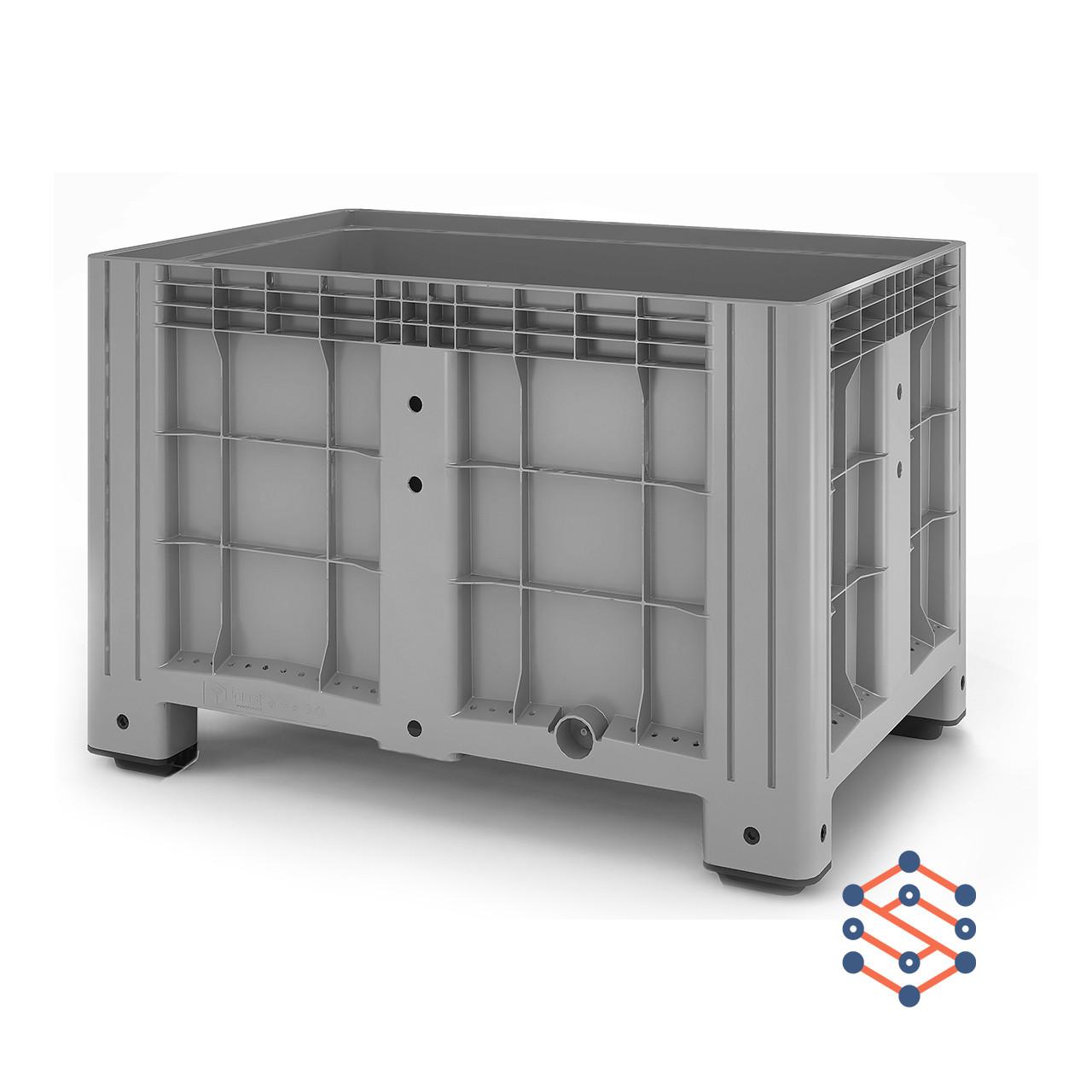 Цельнолитой пластиковый контейнер BigBox на 4-х ножках 1200х800х800мм