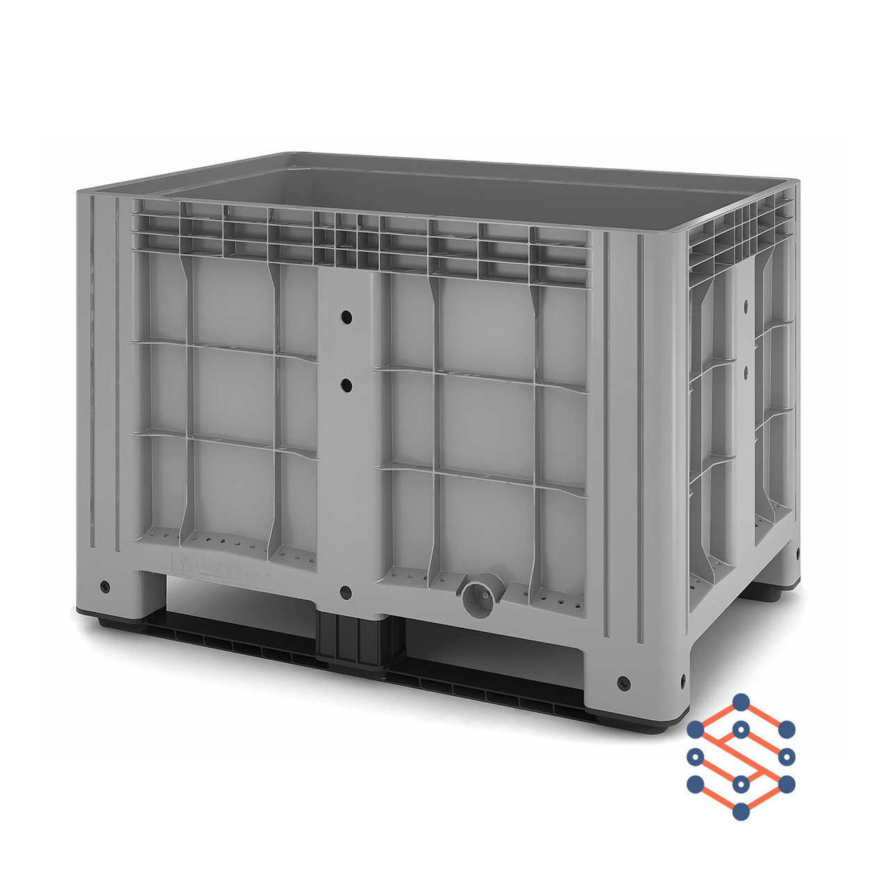 Цельнолитой пластиковый контейнер BigBox на полозьях 1200х800х800 мм