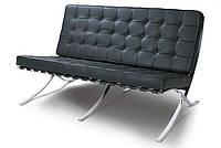 Дизайнерский диван Барселона, 3-х местный, черный