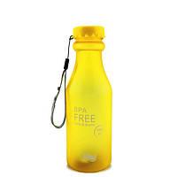 Бутылка для воды BPA Free 550 мл матовая Желтая (715814324V)