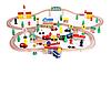 Деревянная железная дорога Wooden Toys 77CE-50556 100 елементов