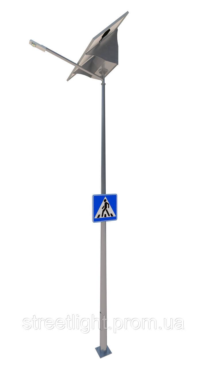 Автономное освещение пешеходных переходов с односторонним знаком