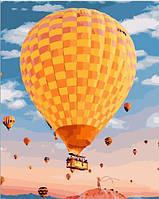 Картина по номерам Желтый воздушный шар (PGX25451) 40 х 50 см  Premium