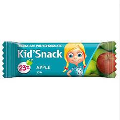Енергетичний баточник для дітей зі смаком Яблука Kid Snack, 30 грам