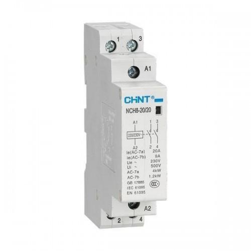 Контактор модульний NCH8-20/20 20A 2НО Chint, 5947-230