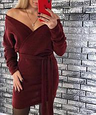 Платье теплое мини со свободным верхом, фото 2