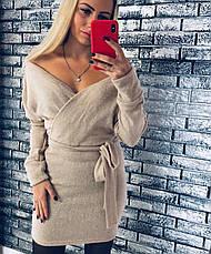 Платье теплое мини со свободным верхом, фото 3