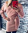 Платье теплое мини со свободным верхом, фото 4