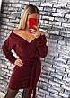 Платье теплое мини со свободным верхом, фото 6