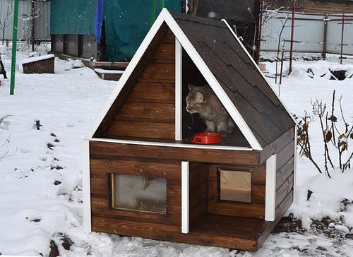 Домик для кошки для улицы