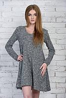 Теплое меланжевое платье Виктория, фото 1