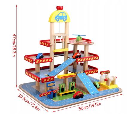 Деревянный трек с лифтом Wooden Toys W04B034, фото 2