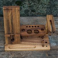 Женский органайзер из дерева для телефона и косметики