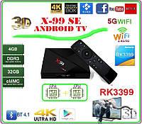 X99 Android 7,1  RK3399 4 ГБ DDR3 32 ГБ EMMC Android tv box 2-х процессорный, фото 1