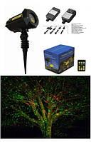 Лазер для подсветки дерева на Новый год  красно-зелёный, 8 узоров X-30P-B X-laser  130mW
