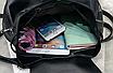Рюкзак женский кожзам Черный цветочный, фото 8