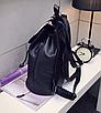 Рюкзак женский кожзам Черный цветочный, фото 6