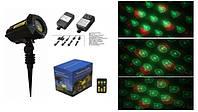 Лазер для подсветки дерева на Новый год  красно-зелёный, 12 узоров X-34P-B4 X-laser 150mW