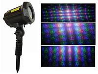 Лазер для украшения фасада здания на Новый год  полноцветный X-37P-B X-laser много картинок, 250mW