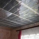 Монтаж нагревательной пленки на потолок