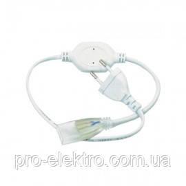#52/1 Адаптер питания для LED NEON 8mm+коннектор 2pin 220V