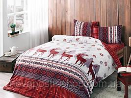 ТАС Фланель Snow White 200x220, комплект постельного белья евро