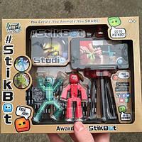 Набор Stikbot человечки со штативом Стикбот две фигурки для анимационного творчества + трипод для телефона, фото 1