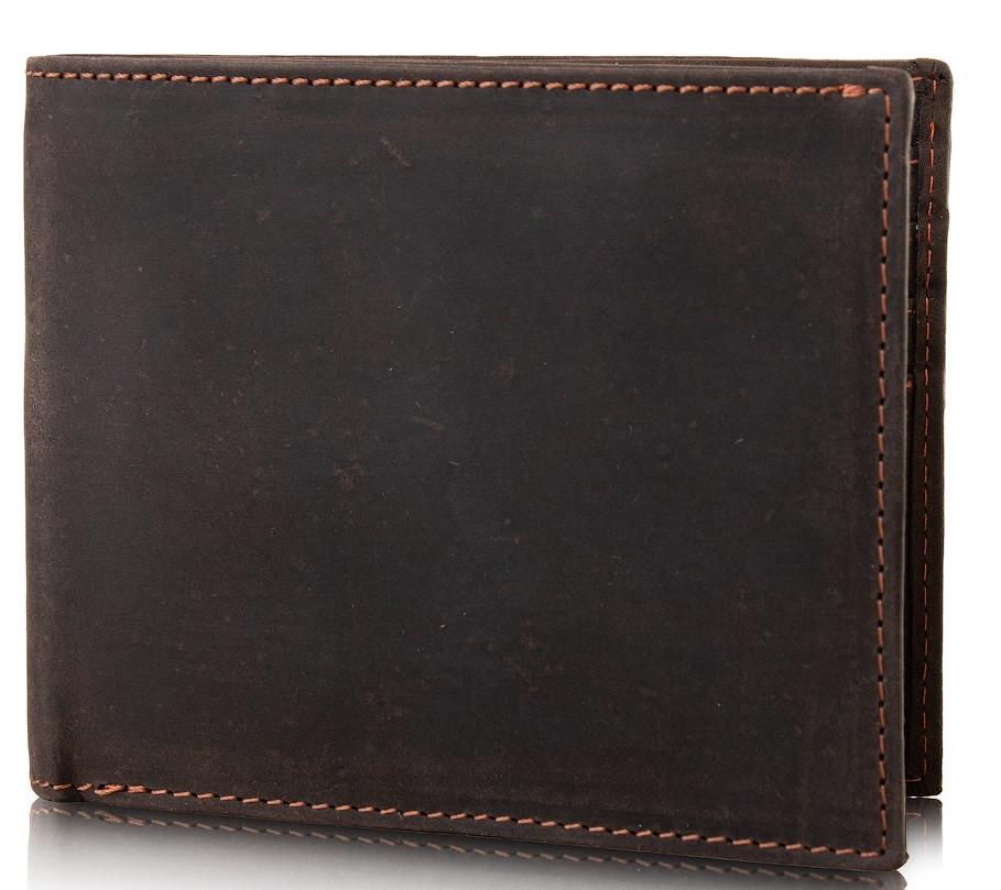 Кошелек кожаный WOODBRIDGE FULNC4052-BRN мужской коричневый