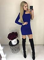 Платье облегающее с одним рукавом 26151, фото 1
