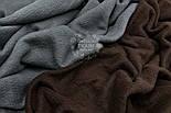 Флис однотонный коричневого цвета, фото 2