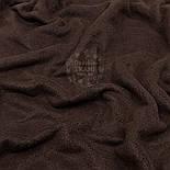 Флис однотонный коричневого цвета, фото 3