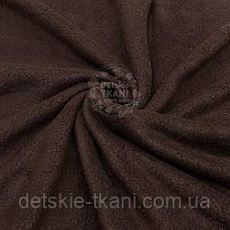 Однотонний фліс коричневого кольору