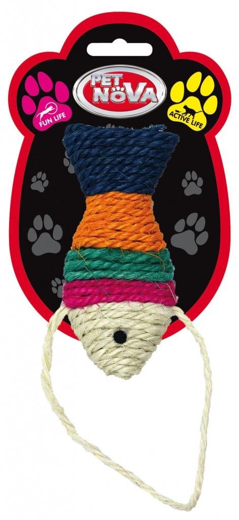 Игрушка для кошек Рыбка плетённая Pet Nova 12x6 см