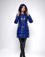 Зимняя женская молодежная куртка с блестящей плащевки