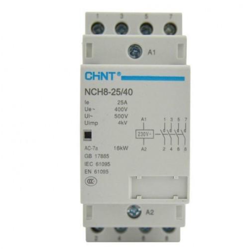 Контактор модульный NCH8-25/22 25A 2НЗ+2НО Chint, 5953-230