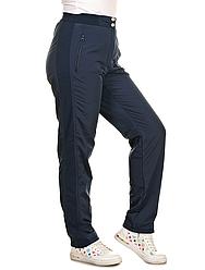 Зимові штани плащівка, теплі штани жіночі на флісі (трикотажна вставка)