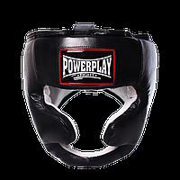 Шлем боксерский кожаный PowerPlay 3065 черный S