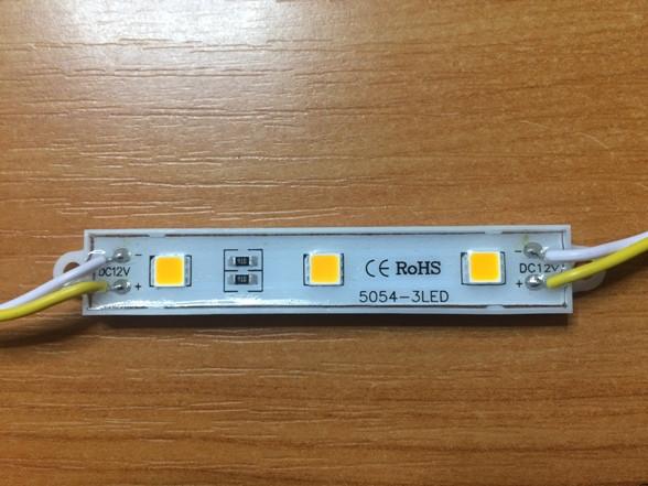 Светодиодный модуль SMD 5054 3 светодиода 120* теплый белый IP65 Код.59405