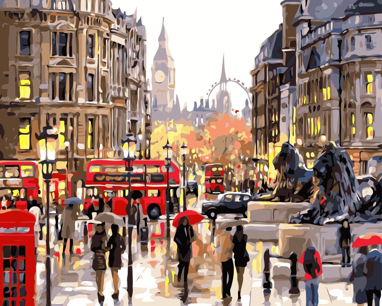 Раскрашивание по номерам Типичный Лондон ArtStory AS0363 40 х 50 см